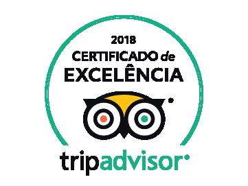 Certificado excelência Tripadvisor